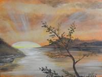 Orange Sunset Fine Art Print