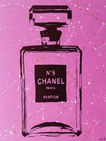 Purple Chanel No5 Pop Art Framed Print
