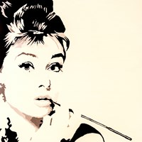 Just Smokin  Audrey Hepburn Fine Art Print
