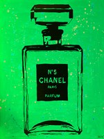 Chanel Pop Art Green Chic Fine Art Print