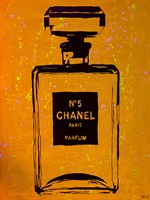 Chanel Pop Art Orange Chic Fine Art Print