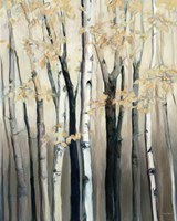 Golden Birch I Fine Art Print