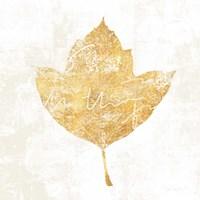 Bronzed Leaf I Fine Art Print