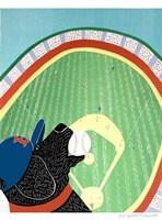 Baseball Champs Black Fine Art Print
