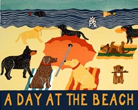 A Day At The Beach Fine Art Print