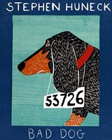 Bad Dog Dachshunc Fine Art Print