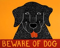Beware of Dog Black Fine Art Print