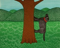 Climbing a Tree Black Fine Art Print