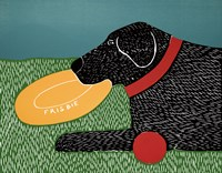 Dog Toys Good Dog Black Fine Art Print