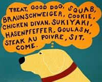 Dogs Can Only Learn a Few Words Fine Art Print