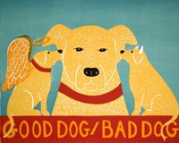 Good Dog Bad Dog Yellow Fine Art Print