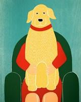 Lap Dog Yellow Fine Art Print