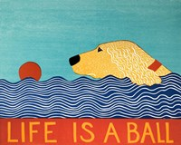 Life Is A Ball Gold Golden Fine Art Print