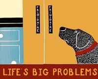 Life's Big Problems Banner Framed Print