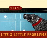 Life's Little Problems Banner Framed Print