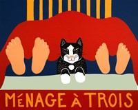 Menage A Trois Black Cat Fine Art Print