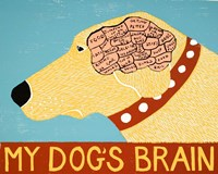 My Dogs Brain Yellow Fine Art Print