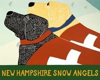 New Hampshire Snow Angels Fine Art Print