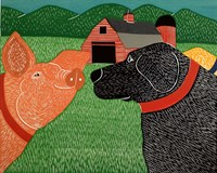 Sally Goes To The Farm Fine Art Print