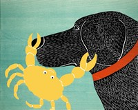 The Crab Black Dog Yellow Crab Fine Art Print