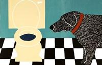 Water Bowl Bad Dog Framed Print