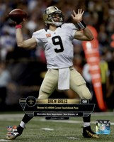 Drew Brees 400th Career Touchdown Pass October 4, 2015 in New Orleans, Louisiana Fine Art Print