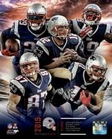 New England Patriots 2015 Team Composite Fine Art Print
