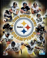 Pittsburgh Steelers 6-Time Super Bowl Champions Composite Framed Print
