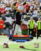 Tom Brady 400th Career Touchdown Pass September 27, 2015, in Foxborough, MA. Fine Art Print