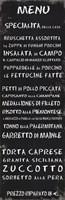 Transit Menu Italian Fine Art Print