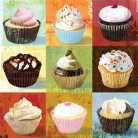 Cupcake 9-Patch Fine Art Print