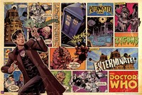 Doctor Who - Comic Strip Fine Art Print