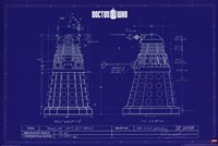 Doctor Who - Dalek Blue Print Fine Art Print
