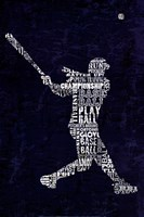 Type Baseball Blue Fine Art Print