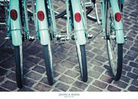 Bicycle Line Up 1 Fine Art Print