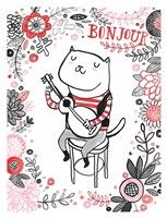 Cats of Paris - Musician Fine Art Print