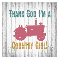 Country Girl Framed Print