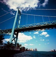 Ambassador Bridge, Detroit River, Michigan Fine Art Print
