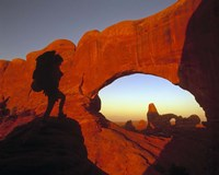 Mountaineering Arches National Park, UT Fine Art Print