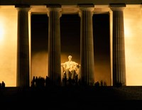 Lincoln Memorial, Washington DC (detail) Fine Art Print