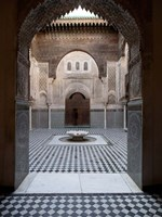 Al-Attarine Madrasa built by Abu al-Hasan Ali ibn Othman, Fes, Morocco Fine Art Print