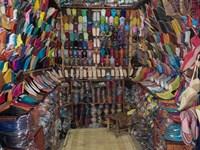 Shoe store, Essaouira, Morocco Fine Art Print