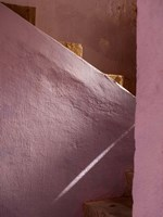 Pink Painted Stairway near Ouarzazate, Morocco Fine Art Print