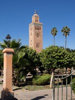 Koutoubia Minaret built by Yacoub el Mansour, Marrakesh, Morocco Fine Art Print