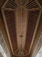 Highly Decorated Roof of Palais Bahia, Marrakesh, Morocco Fine Art Print