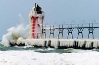 South Pier Lighthouse, South Haven, Michigan Fine Art Print