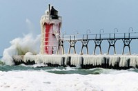 South Pier Lighthouse, South Haven, Michigan Fine Art Print
