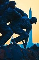 Iwo Jima Memorial at Dusk, Arlington National Cemetery, Arlington, Virginia Fine Art Print