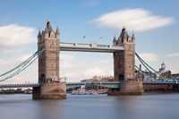 Tower Bridge, Thames River, London, England Fine Art Print