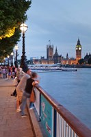 Big Ben and Houses of Parliament, City of Westminster, London, England Fine Art Print